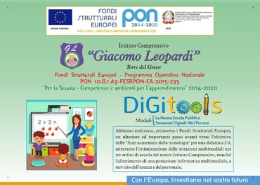 Targa conclusiva Pon Ambienti Digitali 10.8.1.A3 FESRPON CA-2015-235
