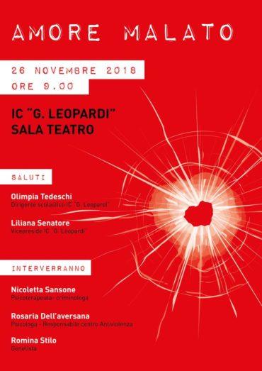 Amore malato: incontro alla Giacomo Leopardi sulla violenza di genere